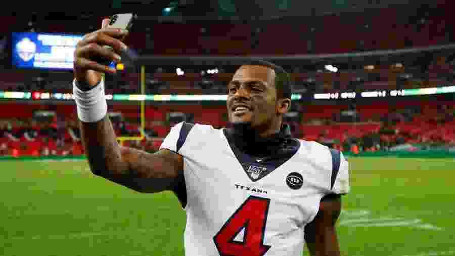 Deshaun Watson, quarterback do Houston Texans, buscou referências para além da NFL - Reuters/Andrew Boyers