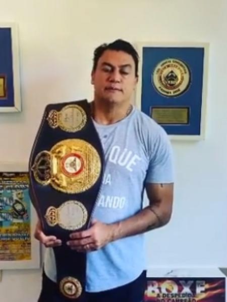 Popó vai leiloar cinturão de campeão de mundial - Reprodução/Instagram