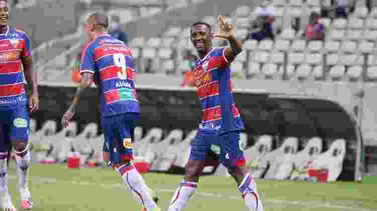 Yuri César comemora gol pelo Fortaleza - Leonardo Moreira/Fortaleza EC - Leonardo Moreira/Fortaleza EC