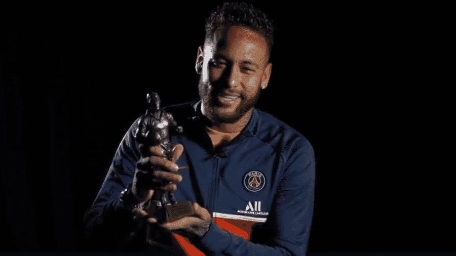 Neymar, do PSG, apareceu em vídeo publicado pelo Everton para premiar Richarlison - Reprodução/Twitter