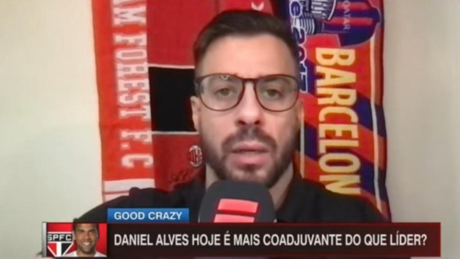 Facincani vê Daniel Alves coadjuvante no São Paulo - Reprodução/ESPN
