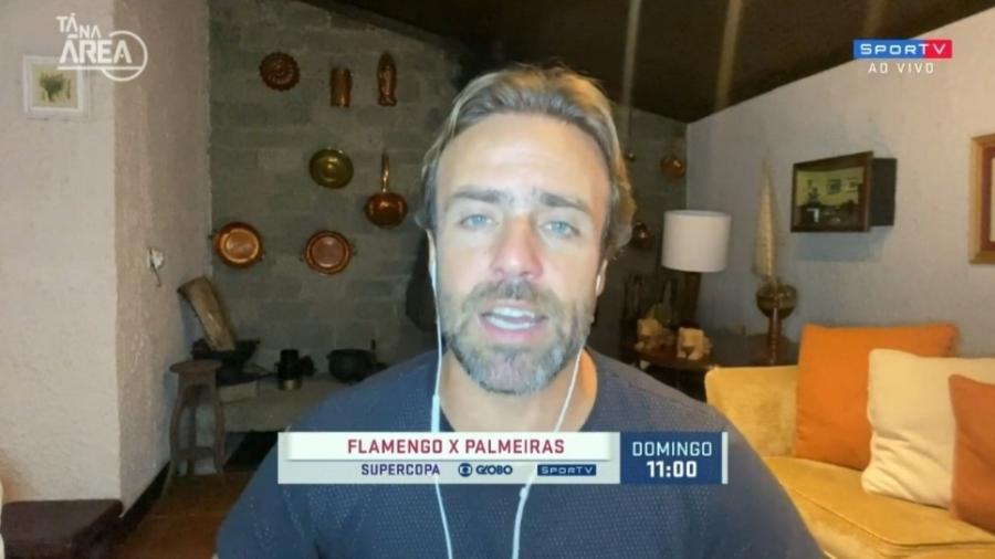 """Roger Flores vê Flamengo e Palmeiras """"animados"""" para Supercopa do Brasil - Reprodução/SporTV"""