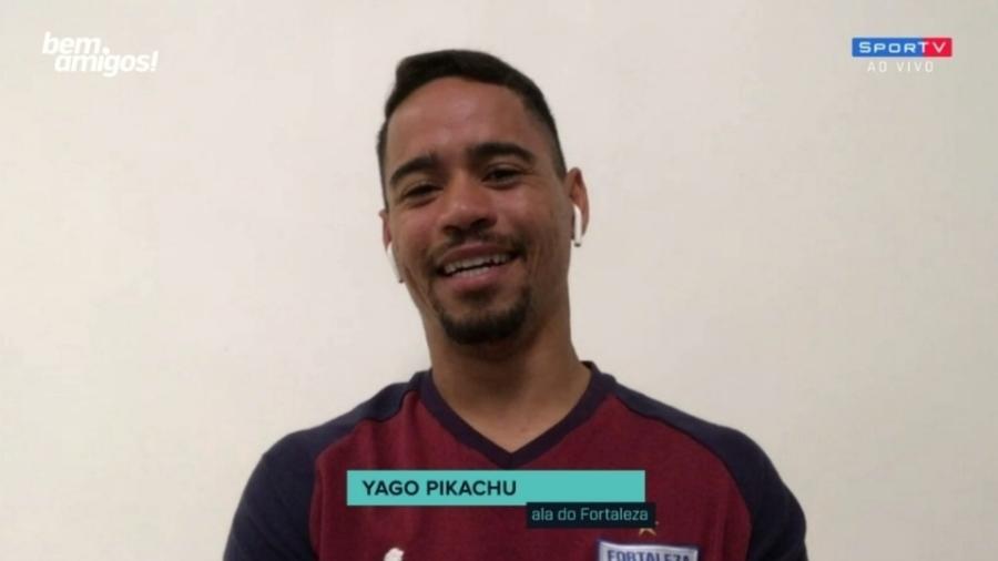 Yago Pikachu diz que Fortaleza não pode se iludir após goleada sobre o Inter - Reprodução/SporTV