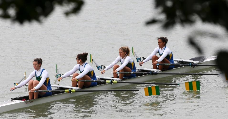 Equipe brasileira terminou a final do remo na sexta colocação