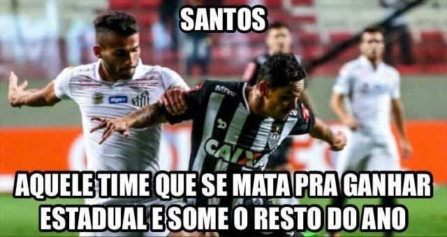O Santos completou 11 anos sem estrar no Brasileirão com vitória. E virou piada na internet
