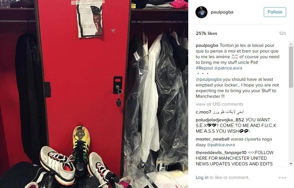 Paul Pogba responde Evra no Instagram