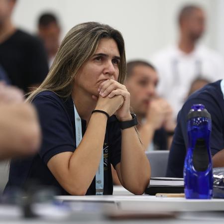 Emily Lima acompanha aula inaugural do curso da CBF para ober a licença PRO para treinadores de futebol - Lucas Figueiredo/CBF