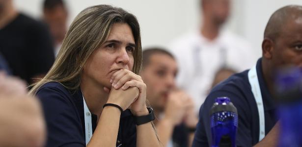 Emily Lima acompanha aula inaugural de curso da CBF na Granja por Licença Pro - Lucas Figureiredo/CBF