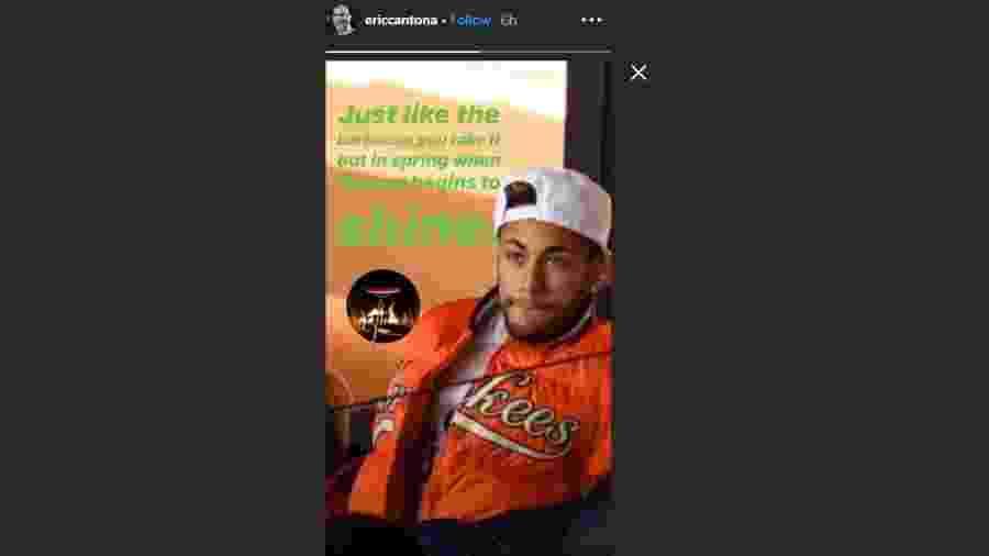 Eric Cantona ironizou Neymar em sua conta oficial no Instagram - Reprodução/Instagram