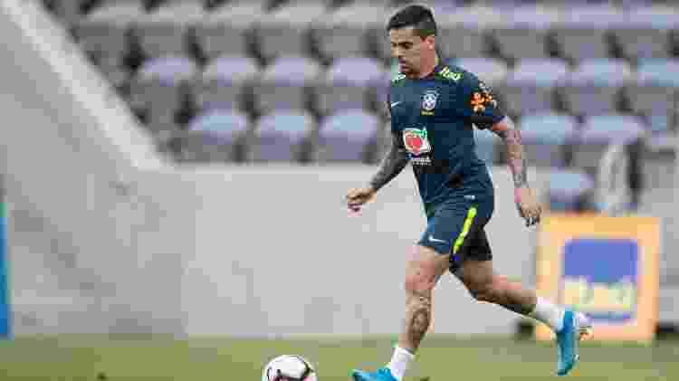 Fagner, lateral-direito do Corinthians, durante treino da seleção brasileira - Lucas Figueiredo/CBF - Lucas Figueiredo/CBF