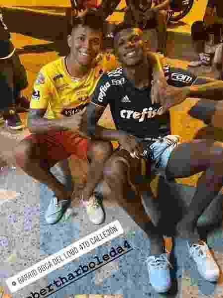 Nas férias, Arboleda foi fotografado com camisa do Palmeiras no Equador - Reprodução