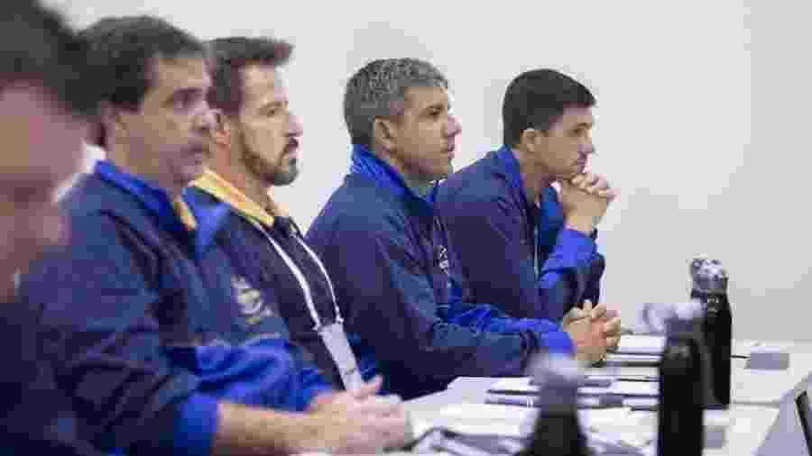 Júnior Lopes (esq) e Ramon foram companheiros de turma no curso Licença Pró da CBF - Thais Magalhães/CBF