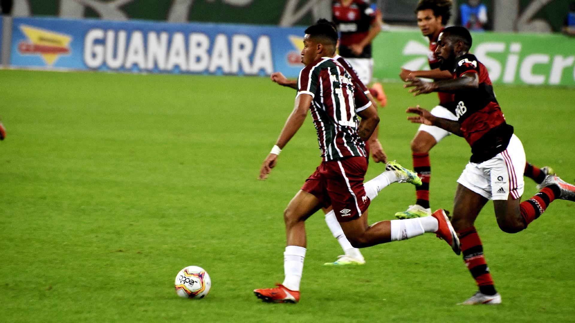 Marcos Paulo, do Fluminense, e Gerson, do Flamengo, na decisão do Carioca