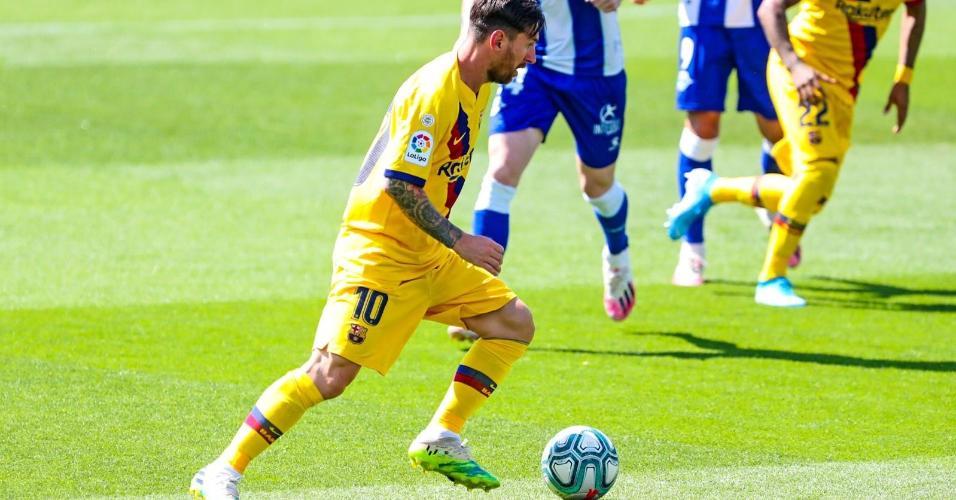 Messi na vitória do Barcelona sobre o Alavés pelo Campeonato Espanhol 2019/20