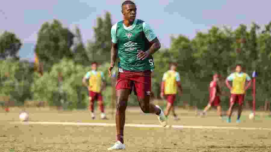 Frazan voltou a treinar com bola no Fluminense após oito meses - Lucas Merçon/Fluminense FC