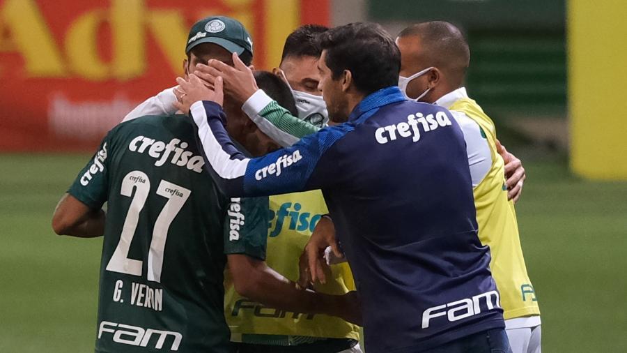 Gabriel Veron abriu o placar para o Palmeiras contra o Red Bull Bragantino, no Allianz Parque - Marcello Zambrana/AGIF