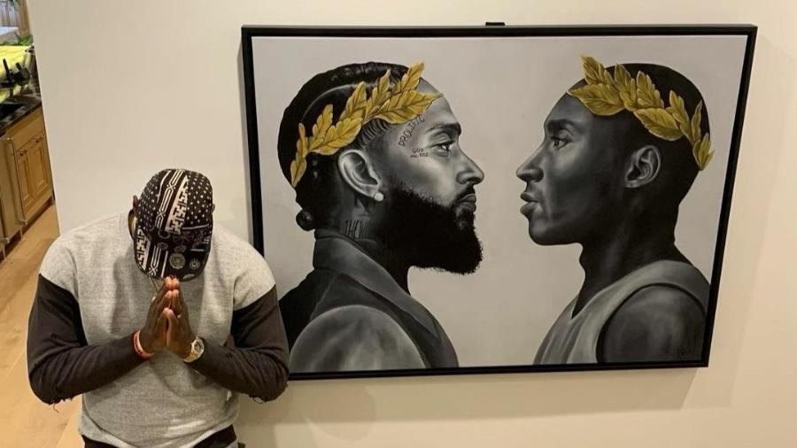 Lebron James ganha quadro com imagem de Kobe Bryant - Reprodução/Instagram