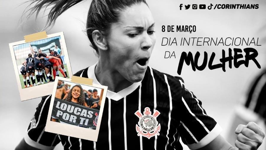 Corinthians faz homenagem no Dia Internacional da Mulher - Reprodução/Twitter