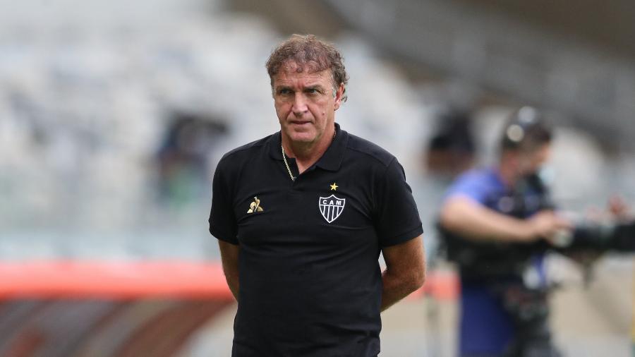 Cuca rasgou elogios ao seu time após vitória deste sábado contra o Corinthians - Pedro Souza/Atlético-MG