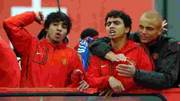 Gêmeos Fabio e Rafael foram aposta de Ferguson para o Manchester garimpados na base do Fluminense - AFP/PAUL ELLIS - AFP/PAUL ELLIS