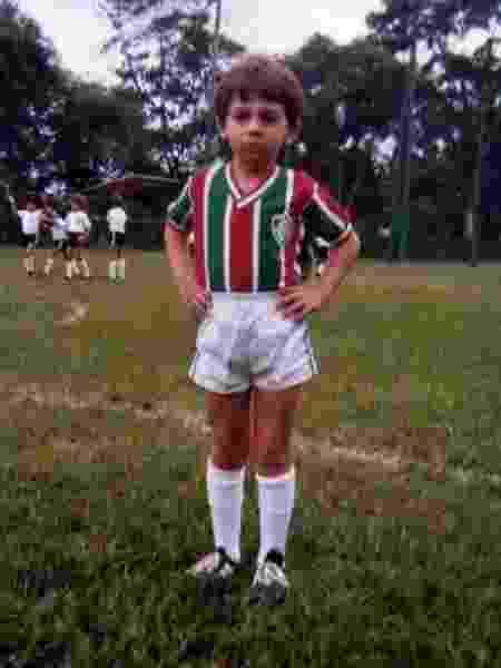 Ricardo Berna é tricolor desde a infância - Arquivo Pessoal - Arquivo Pessoal