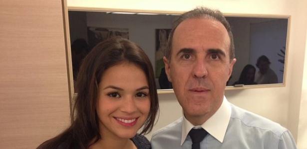 Bruna Marquezine ao lado de Wagner Ribeiro