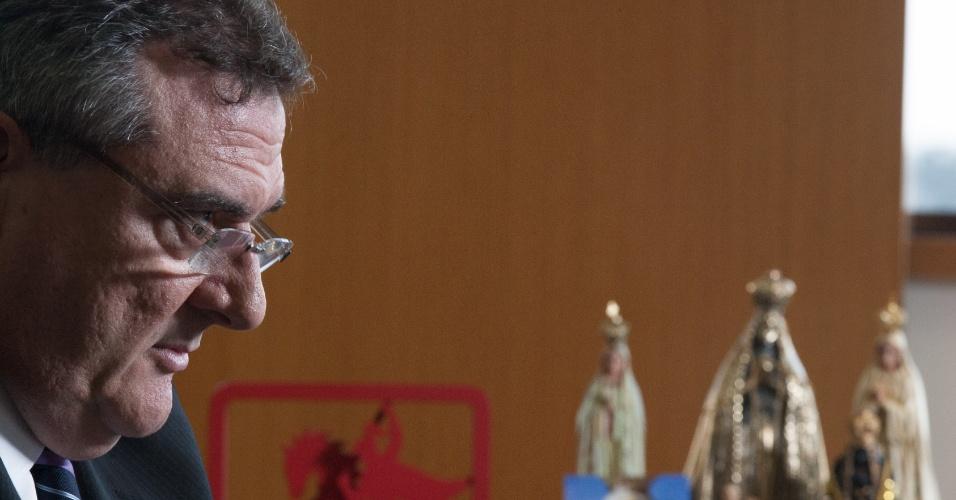 Mário Gobbi, presidente do Corinthians, concede entrevista em seu gabinete no Parque São Jorge