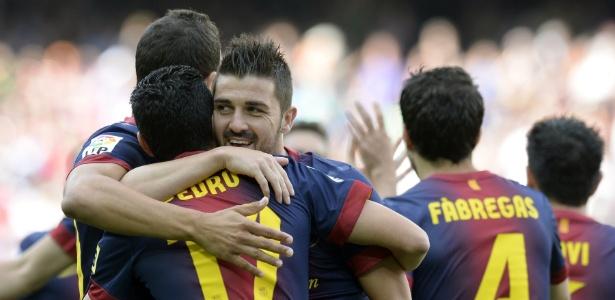 Logo aos 3 minutos, Villa abriu o placar para o Barcelona contra o Málaga
