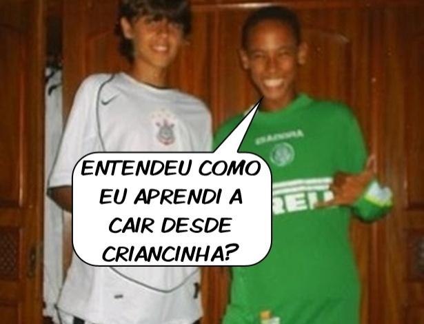Corneta FC: Palmeirense, Neymar aprendeu a cair desde criancinha