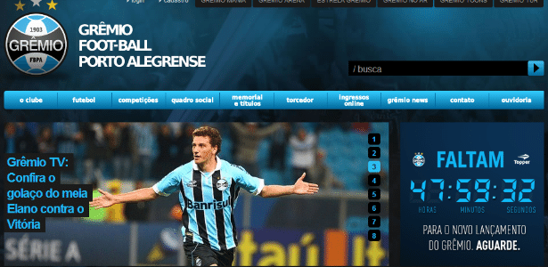 Grêmio espalha relógios e faz contagem regressiva para lançamento de ... 781cab13753eb