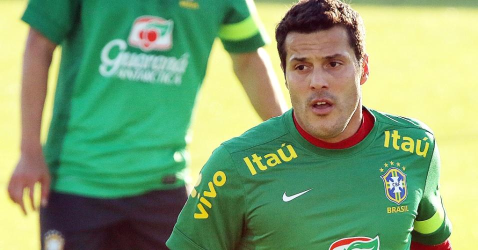 07.06.13 - Julio Cesar participa de treino da seleção brasileira em Porto Alegre