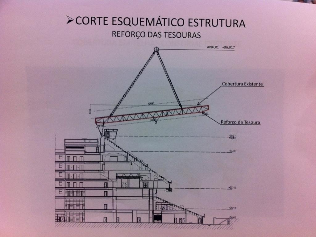 O reforço em partes da cobertura é considerado primordial para a futura liberação do Engenhão