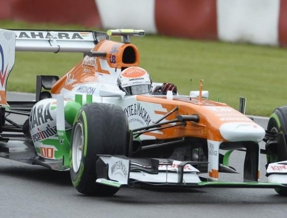 Adrian Sutil, da Force Índia, fez o segundo melhor tempo no terceiro treino livre