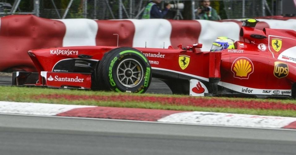 Massa largará na 16ª posição após bater sua Ferrari na proteção com pneus