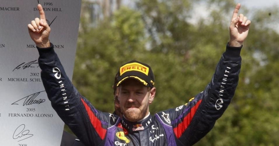 Alemão Vettel celebra terceira vitória na temporada, chegando a 132 pontos