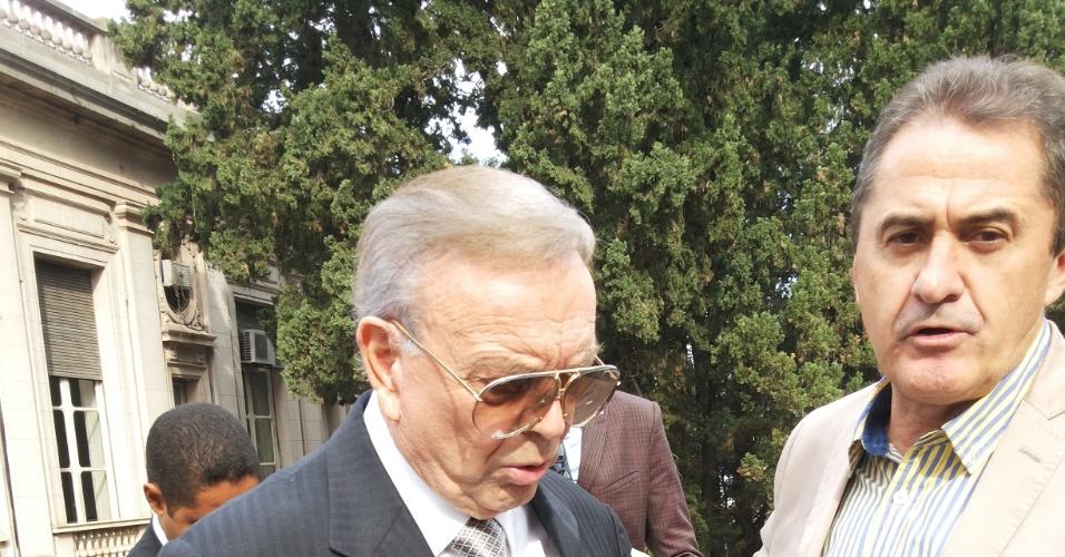 Marin se encontra com o adversário Francisco Novelletto, presidente da Federação Gaúcha