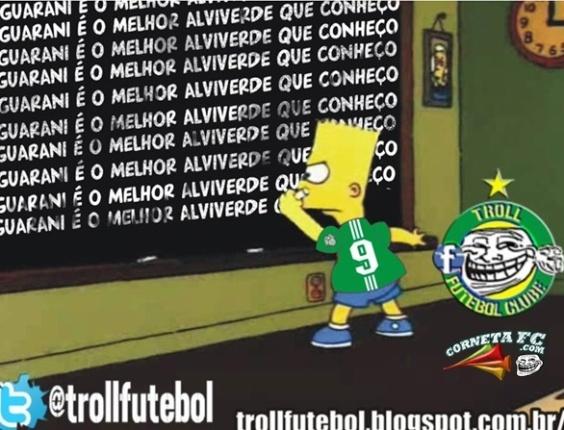 Corneta FC: Bart Simpson mostra quem é o melhor alviverde do futebol