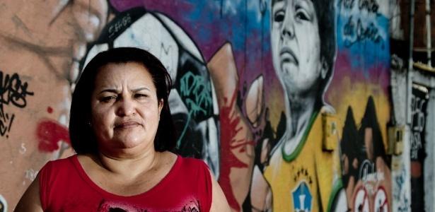 Francicleide Souza, líder comunitária em Metrô Mangueira, uma das áreas atingidas pelas remoções