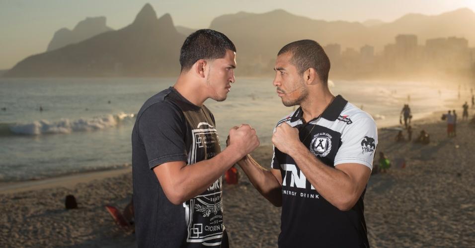 Anthony Pettis  e José Aldo (e.) são os astros da luta principal do UFC Rio 4