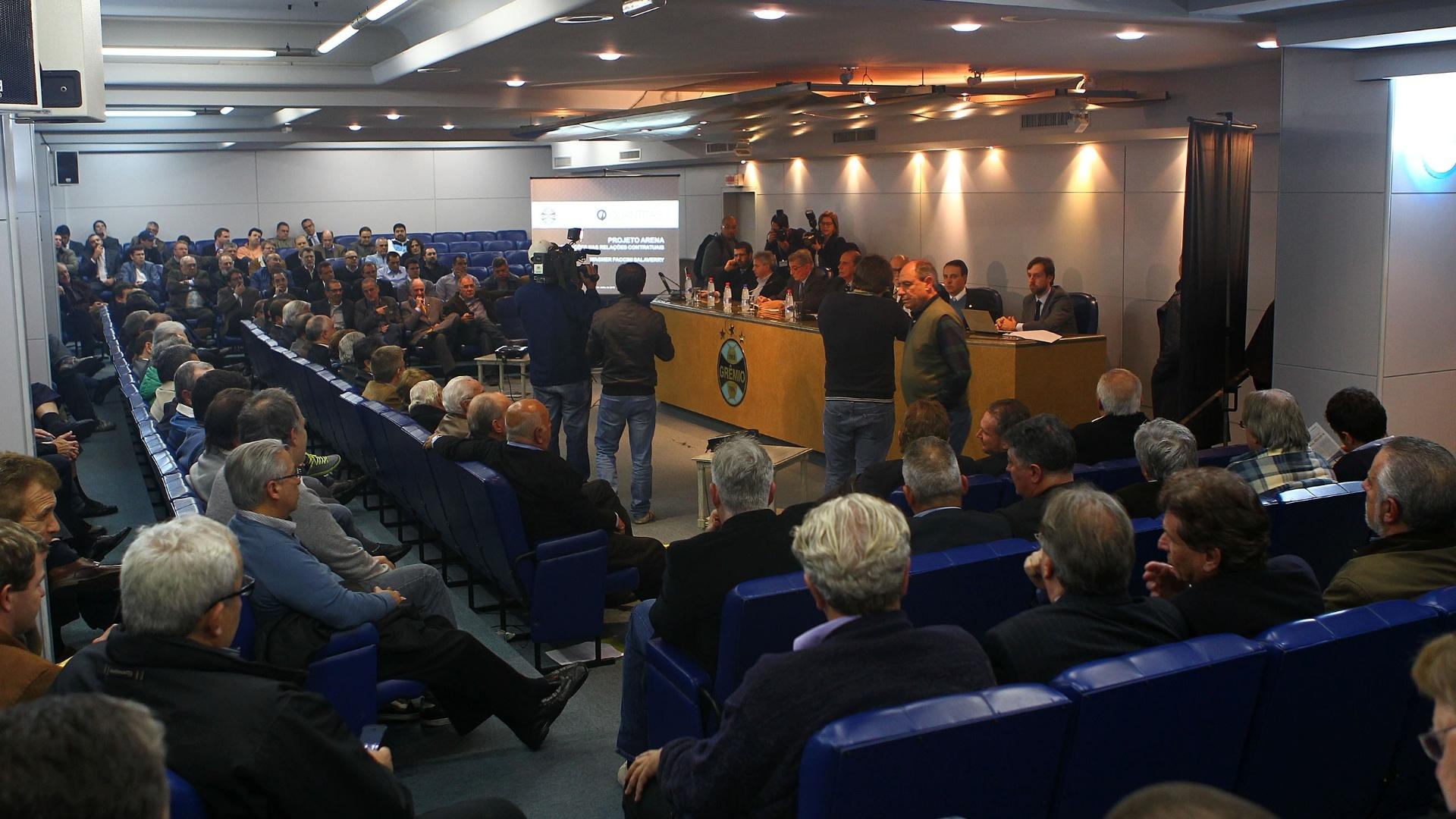 Conselho Deliberativo do Grêmio reunido para apreciar novo contrato da Arena
