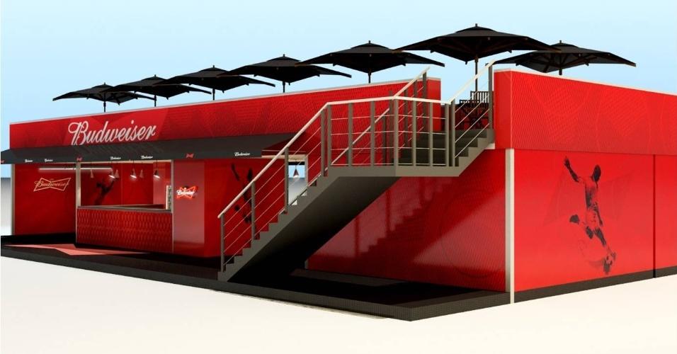 Na Arena Fonte Nova e no Castelão, os bares na Copa das Confederações tinham dois andares, com um deck ao ar livre