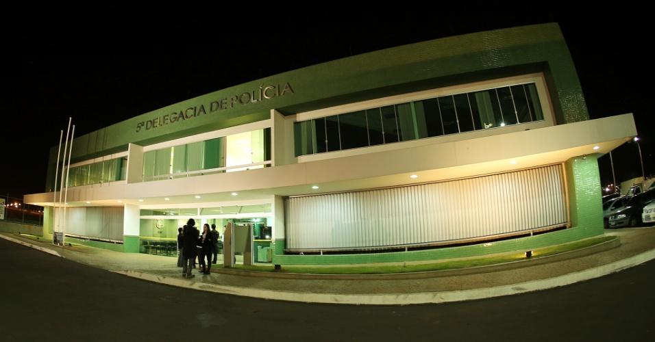 14.jun.2013 - Delegacia em Brasília onde foram presos os participantes de manifestação no Mané Garrincha