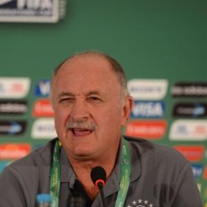 O técnico da seleção brasileira, Luiz Felipe Scolari