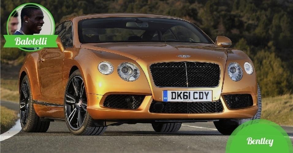 Balotelli, atacante da Itália - Carro: Bentley