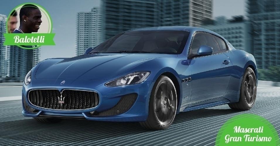 Balotelli, atacante da Itália - Carro: Maserati Gran Turismo