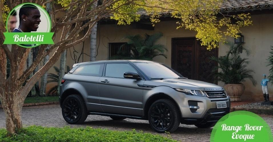Balotelli, atacante da Itália - Carro: Range Rover Evoque