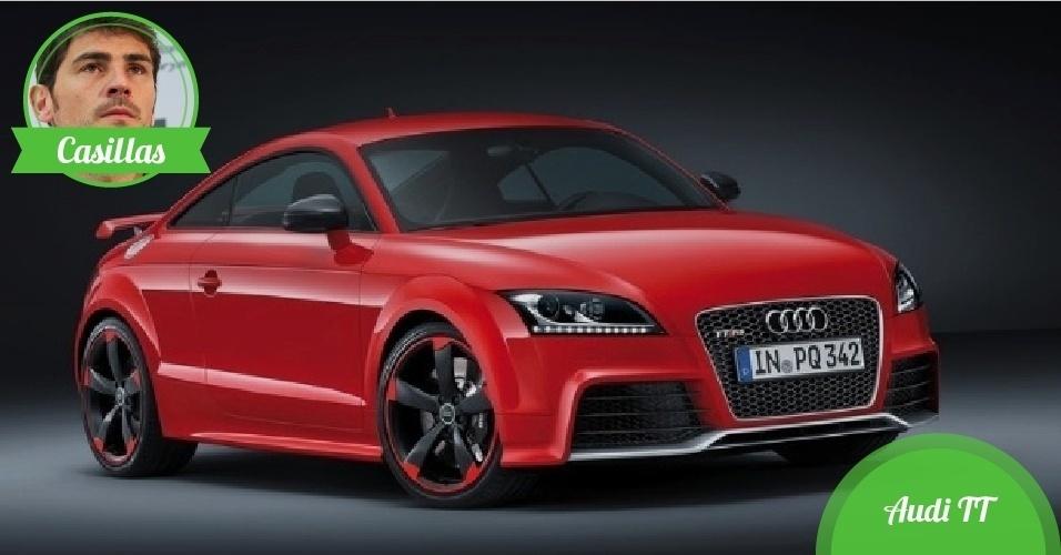 Casillas, goleiro da Espanha - Carro: Audi TT