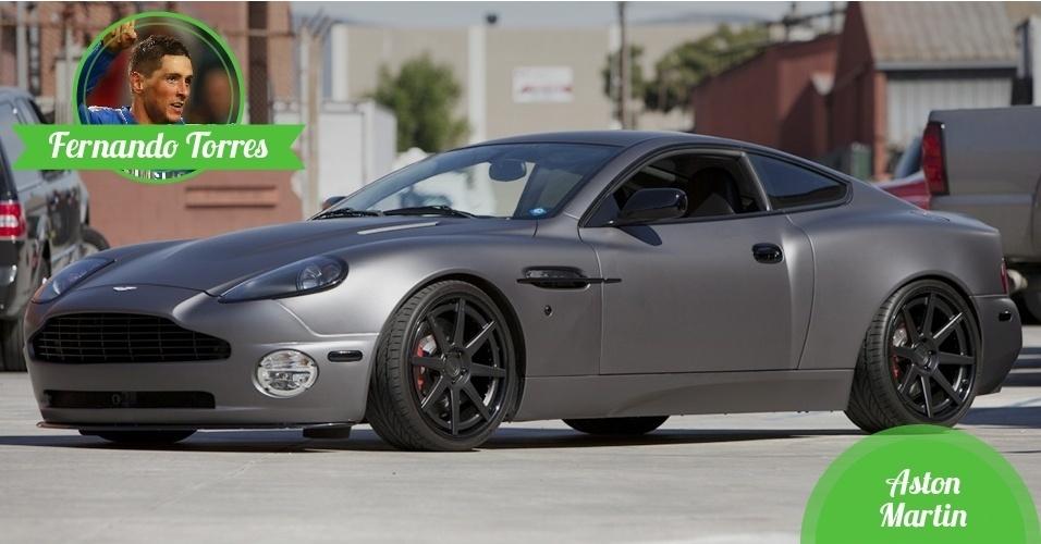Fernando Torres, atacante da Espanha - Carro: Aston Martin