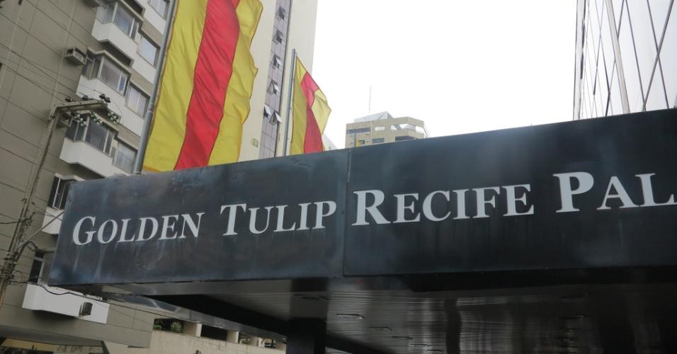 Imagem do hotel que hospeda a delegação da Espanha no Recife