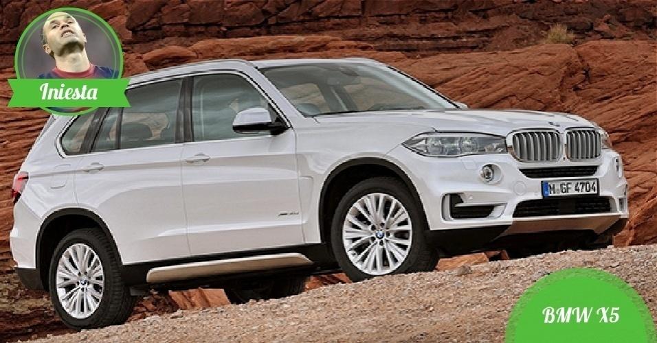 Iniesta, meia da Espanha - Carro: BMW X5